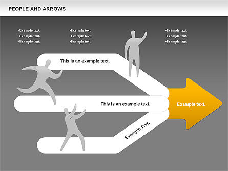 People and Arrows, Slide 15, 00786, Shapes — PoweredTemplate.com