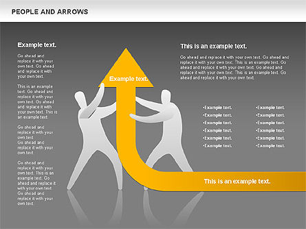 People and Arrows, Slide 16, 00786, Shapes — PoweredTemplate.com