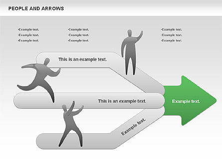 People and Arrows, Slide 4, 00786, Shapes — PoweredTemplate.com
