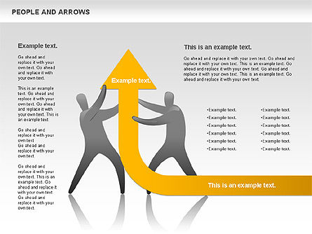 People and Arrows, Slide 5, 00786, Shapes — PoweredTemplate.com