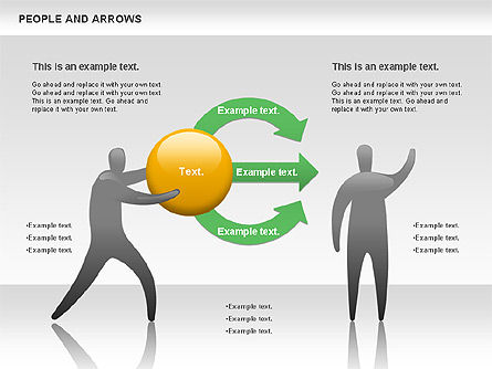 People and Arrows, Slide 6, 00786, Shapes — PoweredTemplate.com