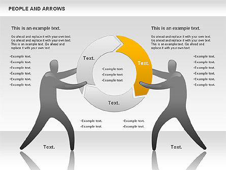 People and Arrows, Slide 7, 00786, Shapes — PoweredTemplate.com