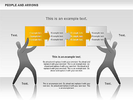 People and Arrows, Slide 9, 00786, Shapes — PoweredTemplate.com