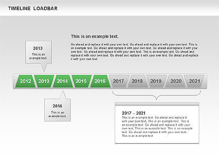 Timeline Loadbar, Slide 11, 00788, Timelines & Calendars — PoweredTemplate.com