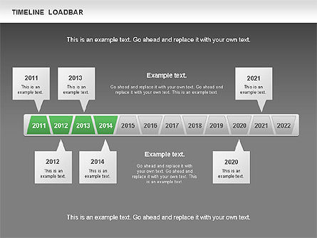 Timeline Loadbar, Slide 14, 00788, Timelines & Calendars — PoweredTemplate.com