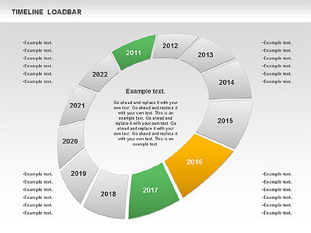 Timeline Loadbar, Slide 2, 00788, Timelines & Calendars — PoweredTemplate.com
