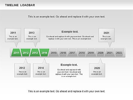 Timeline Loadbar, Slide 3, 00788, Timelines & Calendars — PoweredTemplate.com