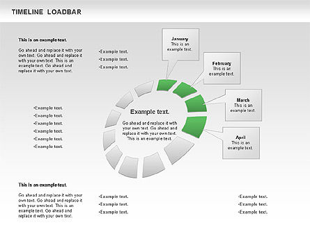 Timeline Loadbar, Slide 4, 00788, Timelines & Calendars — PoweredTemplate.com