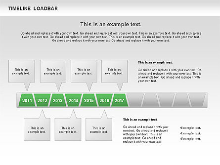 Timeline Loadbar, Slide 7, 00788, Timelines & Calendars — PoweredTemplate.com