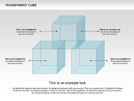 Transparent Cubes Diagram, 00791, Business Models — PoweredTemplate.com