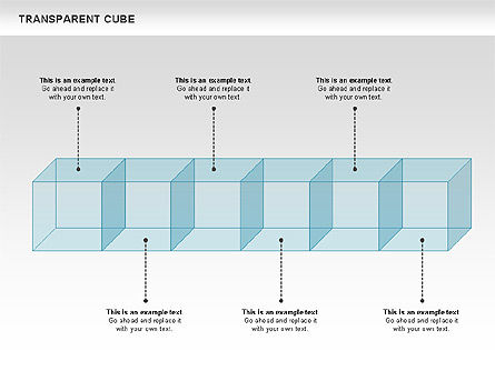 Transparent Cubes Diagram, Slide 10, 00791, Business Models — PoweredTemplate.com