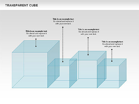 Transparent Cubes Diagram, Slide 11, 00791, Business Models — PoweredTemplate.com