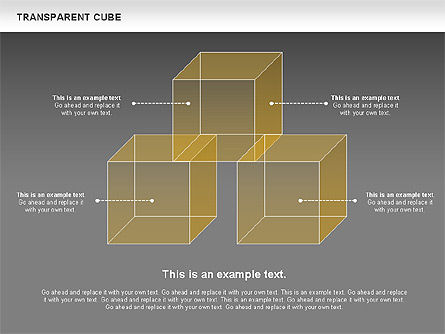 Transparent Cubes Diagram, Slide 12, 00791, Business Models — PoweredTemplate.com