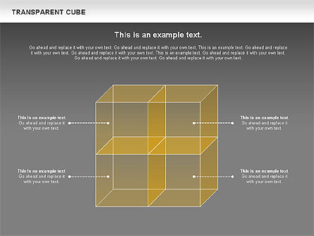 Transparent Cubes Diagram, Slide 14, 00791, Business Models — PoweredTemplate.com