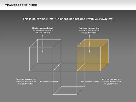 Transparent Cubes Diagram, Slide 15, 00791, Business Models — PoweredTemplate.com