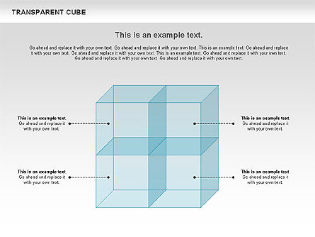 Transparent Cubes Diagram, Slide 3, 00791, Business Models — PoweredTemplate.com