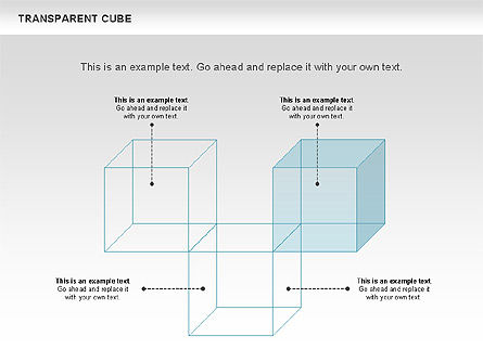 Transparent Cubes Diagram, Slide 4, 00791, Business Models — PoweredTemplate.com