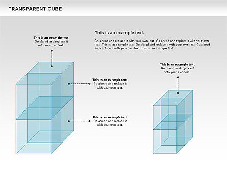 Transparent Cubes Diagram, Slide 5, 00791, Business Models — PoweredTemplate.com