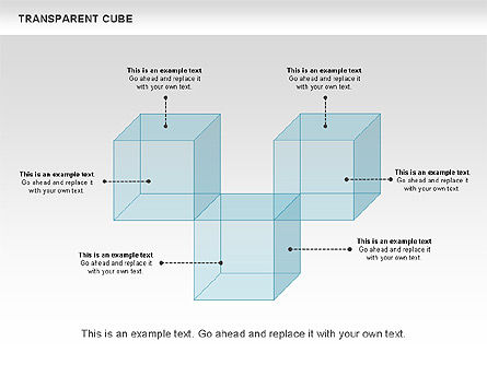 Transparent Cubes Diagram, Slide 6, 00791, Business Models — PoweredTemplate.com