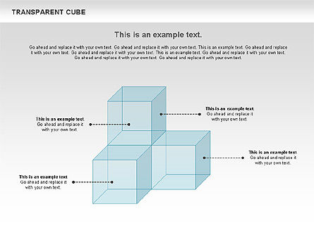 Transparent Cubes Diagram, Slide 7, 00791, Business Models — PoweredTemplate.com