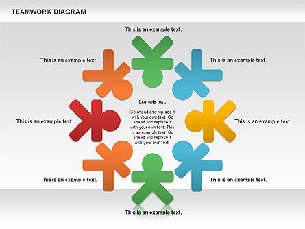 Business Models: Teamwork-Diagramm #00792