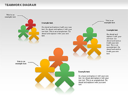 Teamwork Diagram, Slide 11, 00792, Business Models — PoweredTemplate.com