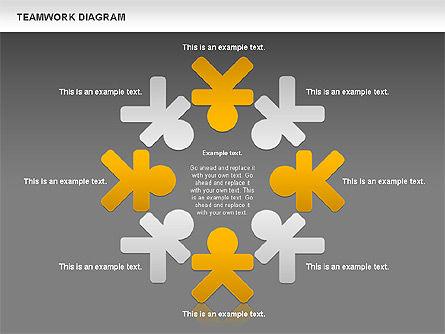 Teamwork Diagram, Slide 12, 00792, Business Models — PoweredTemplate.com