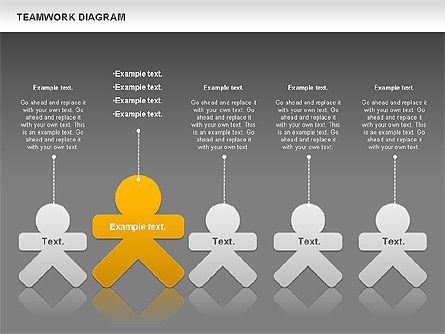 Teamwork Diagram, Slide 13, 00792, Business Models — PoweredTemplate.com