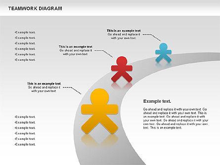 Teamwork Diagram, Slide 6, 00792, Business Models — PoweredTemplate.com