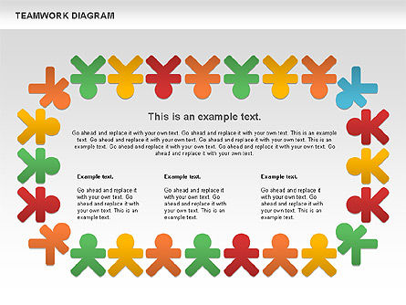 Teamwork Diagram, Slide 8, 00792, Business Models — PoweredTemplate.com