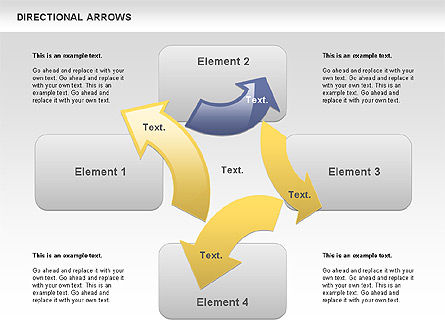 Rounded Arrows, 00796, Shapes — PoweredTemplate.com