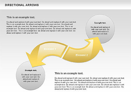 Rounded Arrows, Slide 4, 00796, Shapes — PoweredTemplate.com