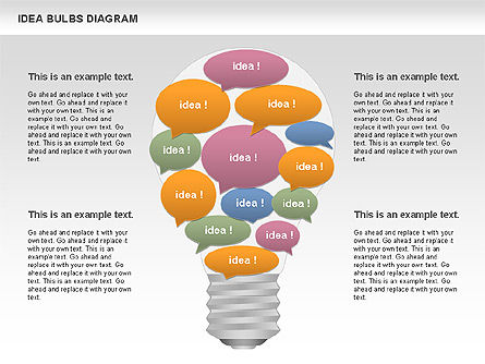 Idea Bulbs Diagram, 00797, Business Models — PoweredTemplate.com