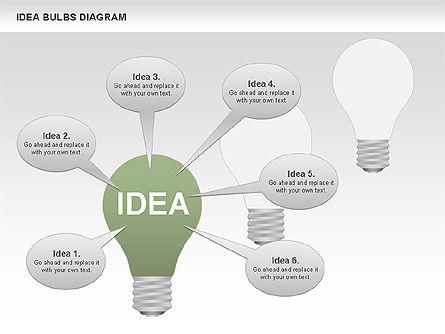Idea Bulbs Diagram, Slide 10, 00797, Business Models — PoweredTemplate.com