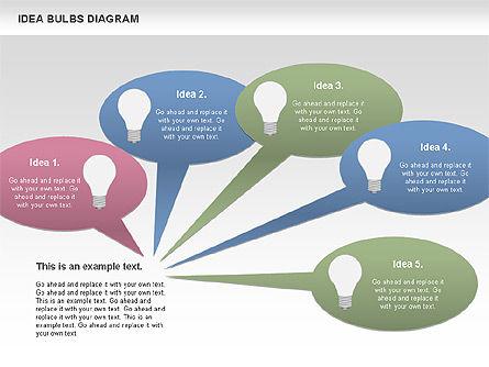 Idea Bulbs Diagram, Slide 11, 00797, Business Models — PoweredTemplate.com