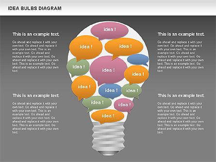 Idea Bulbs Diagram, Slide 12, 00797, Business Models — PoweredTemplate.com