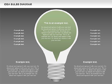 Idea Bulbs Diagram, Slide 14, 00797, Business Models — PoweredTemplate.com
