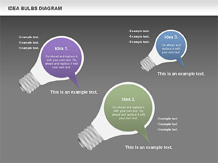 Idea Bulbs Diagram, Slide 15, 00797, Business Models — PoweredTemplate.com