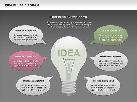 Idea Bulbs Diagram, Slide 16, 00797, Business Models — PoweredTemplate.com