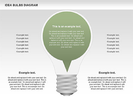 Idea Bulbs Diagram, Slide 3, 00797, Business Models — PoweredTemplate.com