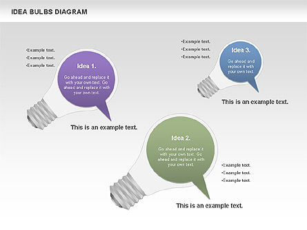 Idea Bulbs Diagram, Slide 4, 00797, Business Models — PoweredTemplate.com