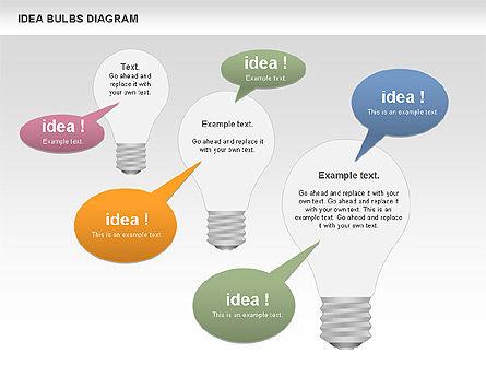 Idea Bulbs Diagram, Slide 6, 00797, Business Models — PoweredTemplate.com