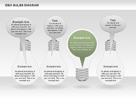 Idea Bulbs Diagram, Slide 7, 00797, Business Models — PoweredTemplate.com