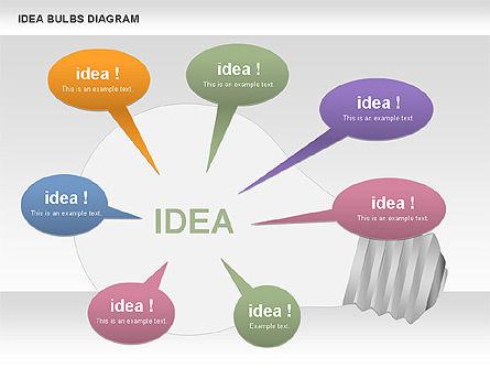 Idea Bulbs Diagram, Slide 8, 00797, Business Models — PoweredTemplate.com
