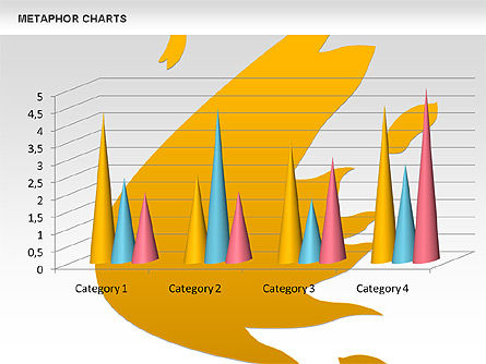 Metaphor Charts, Slide 3, 00798, Shapes — PoweredTemplate.com