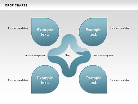 Free Water Drop Shapes Chart, Slide 3, 00799, Business Models — PoweredTemplate.com