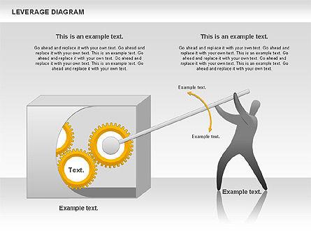 Leverage Diagram, Slide 2, 00800, Business Models — PoweredTemplate.com