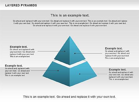 Layered Pyramids, Slide 2, 00802, Business Models — PoweredTemplate.com