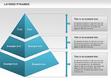 Layered Pyramids, Slide 3, 00802, Business Models — PoweredTemplate.com