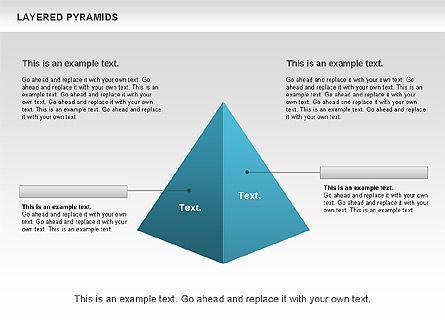 Layered Pyramids, Slide 4, 00802, Business Models — PoweredTemplate.com